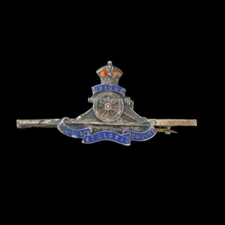 Royal Artillery Silver Bar Brooch