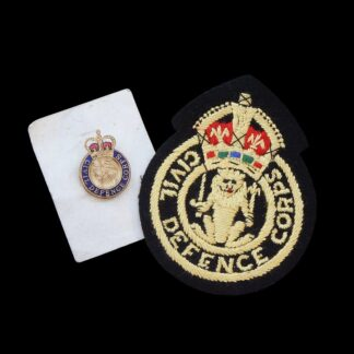 Civil Defence Corps Cloth and Metal Badges