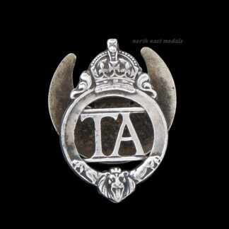 'TA' Territorial Army Soldier's Silver Lapel Badge