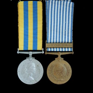 Queen's Korea Medal and UN Korea Medal Pair, Private Patterson, Royal Army Medical Corps