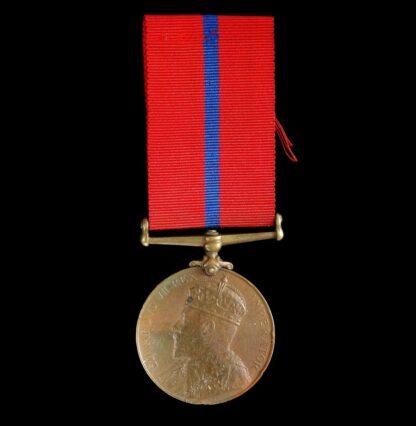 1902 Coronation Medal, Metropolitan Police, PC Tompkins, V. Division