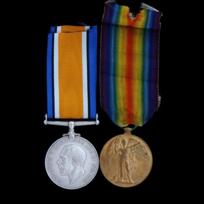 British War & Victory Medal Pair, Private Dennis, Royal Artillery