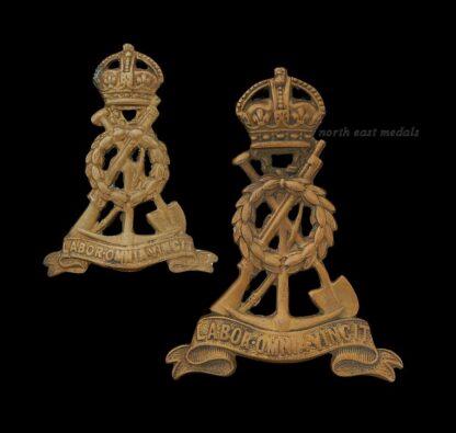 Royal Pioneer Corps Cap Badge and Collar Badge