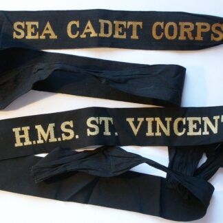 Royal Navy Cap Tally, HMS St Vincent, Sea Cadet Corps