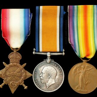 1914-15 Star Medal Trio, Sergeant Holland, 11th Royal Fusiliers KIA 1916