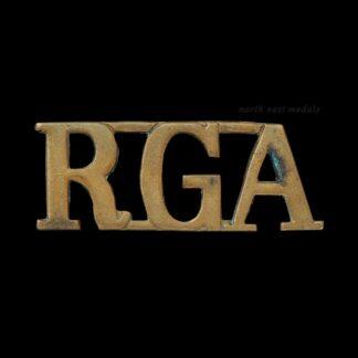 Great War Royal Garrison Artillery RGA Shoulder Title Badge