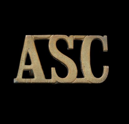 Great War ASC Army Service Corps Shoulder Title Badge