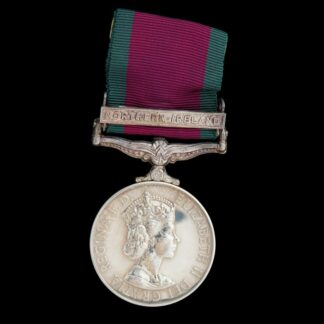 Campaign Service Medal 1962, clasp Northern Ireland Royal Anglian Regiment