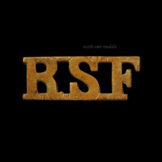 RSF Royal Scots Fusiliers Shoulder Title Badge