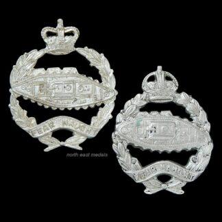 Two Odd Royal Tank Regiment Collar Badges
