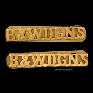 Pair of Berkshire & Westminster Dragoons Yeomanry Shoulder Title Badges
