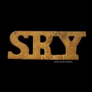 SRY Sherwood Rangers Yeomanry Shoulder Title Badge