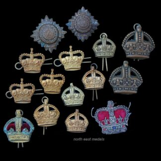 Vintage Collection of Army Officer and NCOs Rank Crowns and 'Pips' Badges (15)