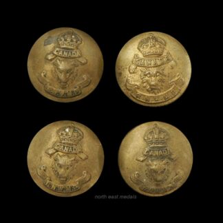 Four RNWP Royal North West Mounted Police Uniform Buttons Medium