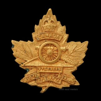 Great War CEF Canadian Expeditionary Force Artillery Collar Badge
