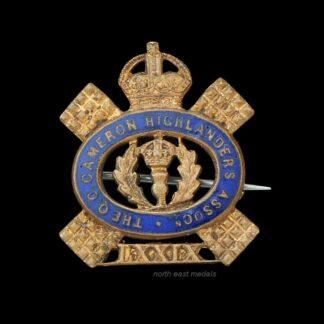 Cameron Highlanders Association Lapel Badge