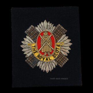 Vintage Royal Scots Blazer Badge