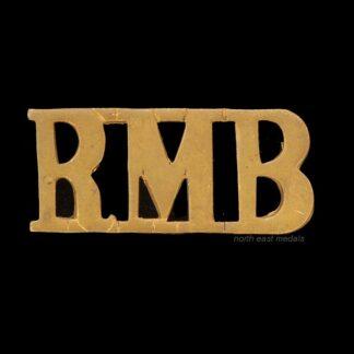Royal Marines Band 'RMB' Shoulder Title Badge