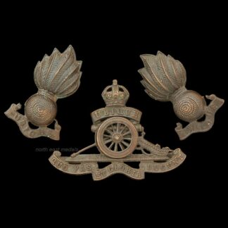 Royal Artillery Officer's Service Dress Cap Badge and Collars