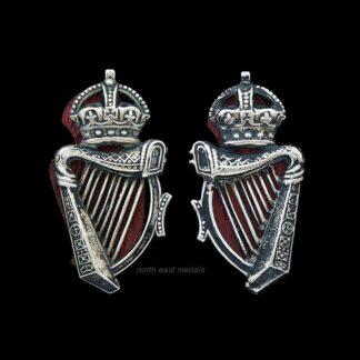 Pair of Royal Irish/Ulster Constabulary Collar Badges. King's Crown