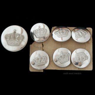 Great War Bavarian Infantry Regiment Uniform Buttons