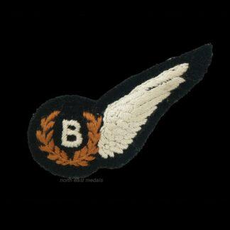 RAF Royal Air Force Bomb Aimer's Badge Half Bervet