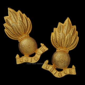 Royal Engineers Officer's Gilt Collar Badges
