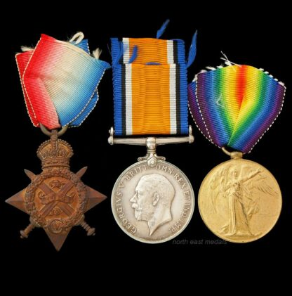 1914 Star Medal Trio Craigmyle Army Service Corps. Died 22/10/1918