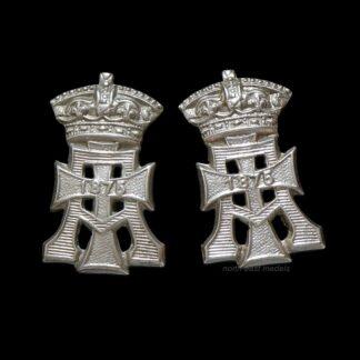 Pair of Yorkshire Regiment Collar Badges