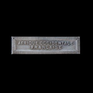 'Afrique Occidentale Francaise' Medal Ribbon Bar for the French Colonial Medal