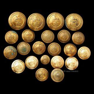 Collection of East Lancashire Regiment Uniform Buttons (22)
