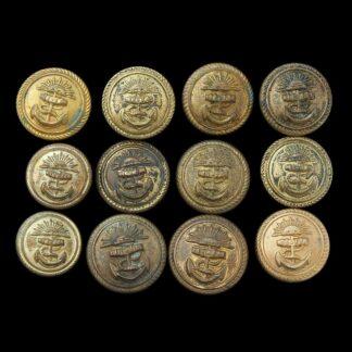 Merchant Navy Shipping Buttons: Peninsular and Oriental Line