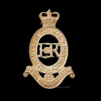 Royal Horse Artillery Officers Silver Hallmarked Cap Badge