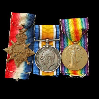 1914-15 Star Medal Trio Gunner Fitzsimmons Royal Field Artillery