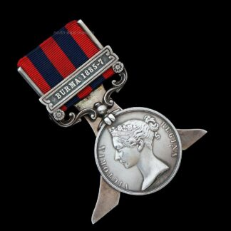 India General Service Medal 1854 Clasp Burma 1885-7 Royal Scots Fusiliers Converted to a Menu Holder