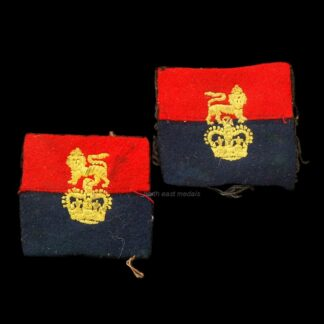 Pair of War Office Controlled Units Formation Sign Arm Badges