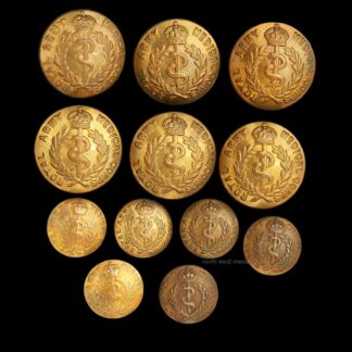 Set of 12 RAMC Royal Army Medical Corps Uniform Buttons