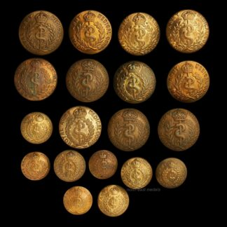 19 RAMC Royal Army Medical Corps Uniform Buttons