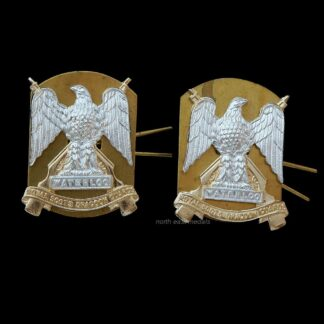 Pair of Royal Scots Dragoon Guards Staybrite Collar Badges