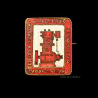 Vintage Bellis & Morcom Apprentice Association Lapel Badge