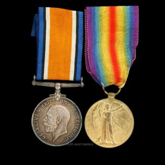 WW1 British War and Victory Medal Pair. Private Harrison East Yorkshire Regiment