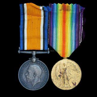 British War & Victory Medal Pair Private Ellison 13th London Regiment