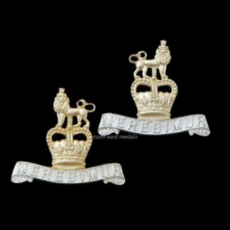 Pair of 15th/19th Hussars Staybrite Collar Badges