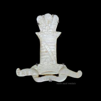 11th Hussars (Prince Albert's Own) Mother of Pearl Sweetheart Brooch