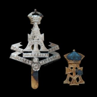 Yorkshire Regiment Cap Badge and Collar badge