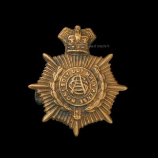 Victorian ASC Army Service Corps Collar Badge