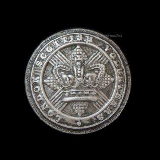 Victorian London Scottish Volunteers Uniform Button