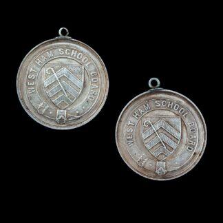 Victorian West Ham School Board Attendance Medals
