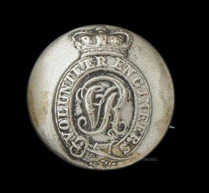 Victorian Royal Engineers Volunteers Uniform Button/Brooch Conversion