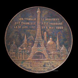 Commemorative Medal: 1889 Ascension of the Eiffel Tower - Souvenir De Mon Ascension Au Sommet De La Tour Eiffel 1889